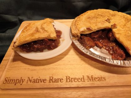 deep filled steak & ale pie
